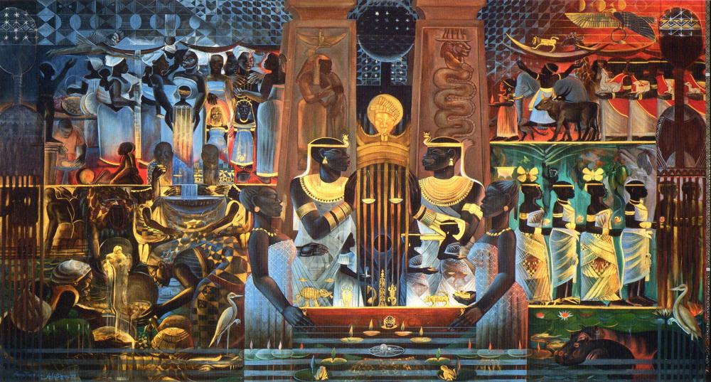 John t biggers 1924 2001 irvin weathersby jr for Black history mural
